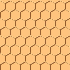 Abstract honey print. seamless geometric pattern with honeycombs