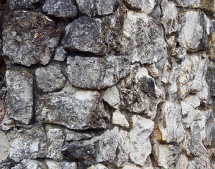 A Weathered Grey Stone Wall