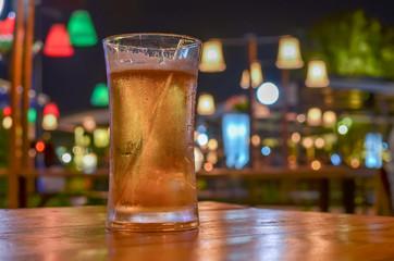 beer in bar scene