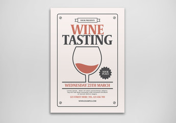 Wine Tasting Event Flyer