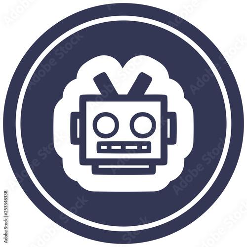 robot head circular icon