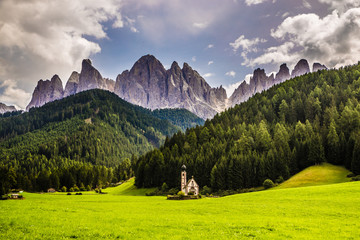 Church And Dolomites Peaks - Val Di Funes, Italy