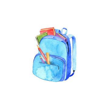 watercolor school backpack