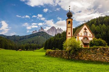 Church of St. John of Nepomuk -Val Di Funes, Italy