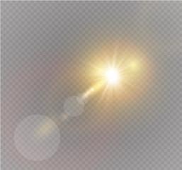 Vector transparent sunlight