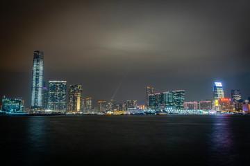 Fototapete - Honk Kong, November 2018 - beautiful night city