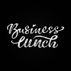 Lettering business lunch written on the blackboard
