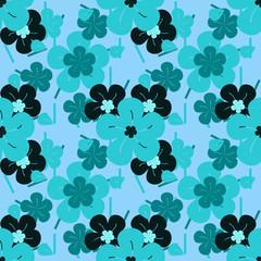 pattern con fiorellini azzurri