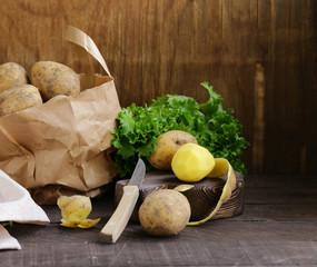 Organic Farm Potatoes for Healthy Eating