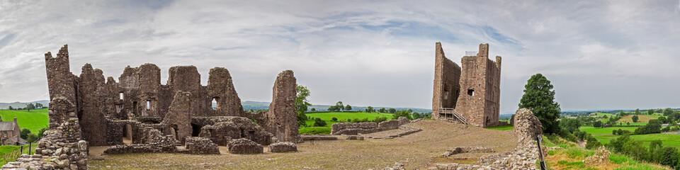Brough Castle interior in Cumbria, England