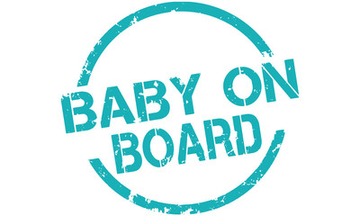 Label button vector Baby on Board