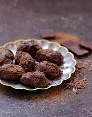 homemade chocolate truffle candy sweets
