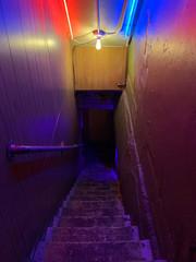 Nightclub stairwell