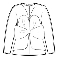 Ladies Jacket Vector Template