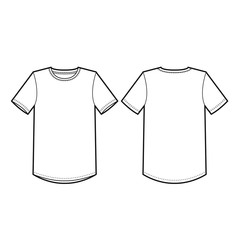 Mens Crew Neck Tee Vector Template