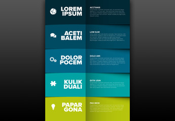 Blue and Green Infographic Layout