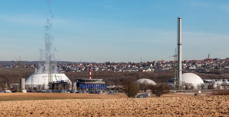 Kernkraftwerk Neckarwestheim bei Stuttgart, Deutschland