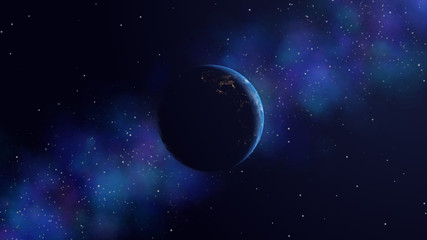 Earth day and night 3d render