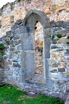 Ruins of medieval cistercian abbey in Transylvania