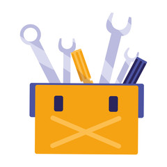 tools box mechanic with wrench keys