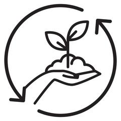 Hand Picked - Organic Farming - Illustration
