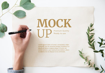 Minimal Paper Mockup Design