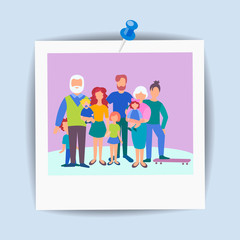Card family snapshot, concept happy family