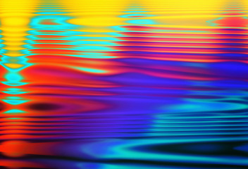 Wall Mural - Colorful blurred dynamic composition of lines and light-spots. Expression abstract art background.
