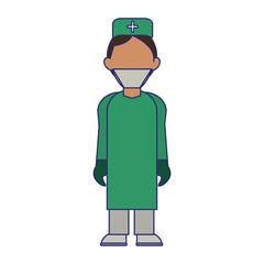 medical avatar cartoon blue lines