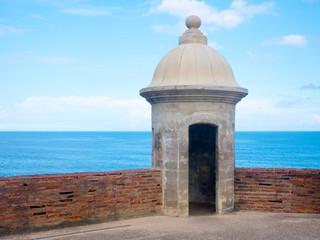 Recess Fitting Caribbean Turret at Castillo San Cristobal in San Juan, Puerto Rico.