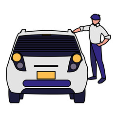 businessman with car character