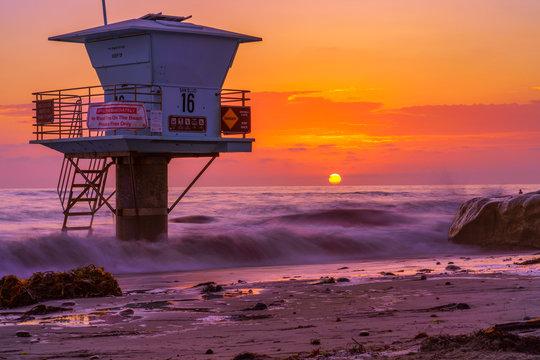 Beautiful Sunset in San Diego, California