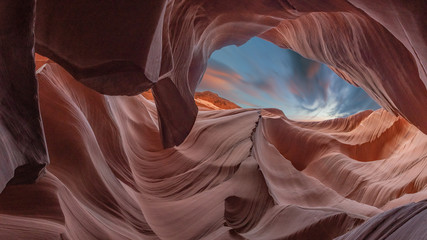 Art Scenic colorful Canyon Antelope near Page, Arizona, USA Wall mural