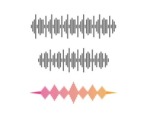 Sound wave logo template