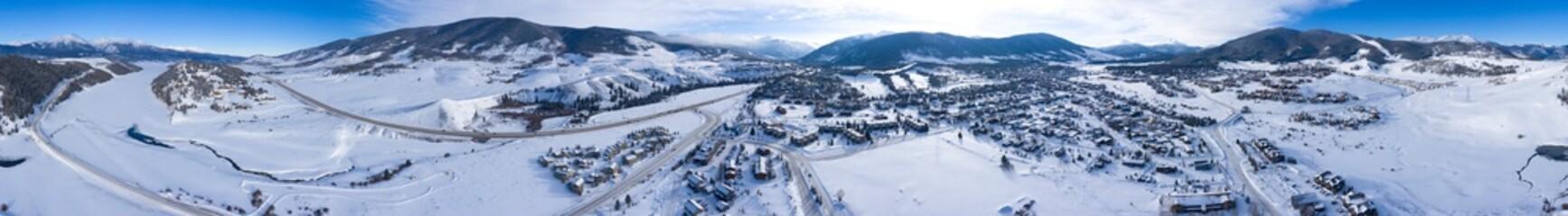 DIllon Siverthorne Colorado 360 Aerial Panoramic View Fototapete