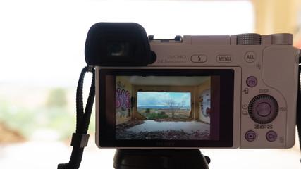 Foto de marco y paisaje