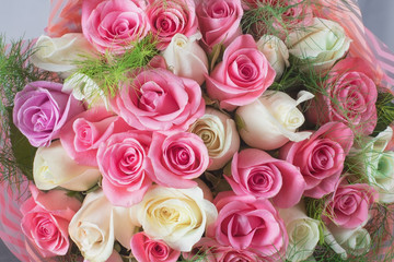 Delicate bouquet of roses