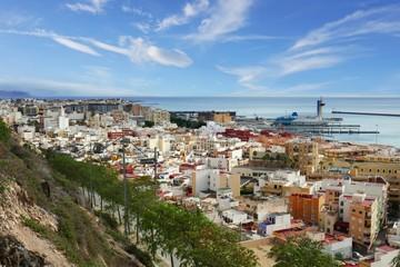 Impressionen aus der Stadt Almería, Spanien