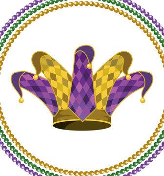 jester hat round icon