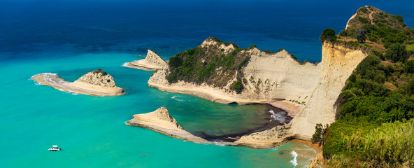 Cape Drastis cliffs in northern Corfu