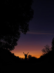 silhouette at dusk