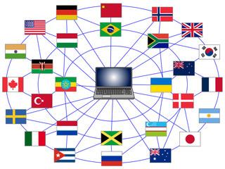情報を世界中に発信するコンピューター。便利だが犯罪も世界的に広がる。