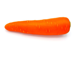 One carrot isolated on white background - Image