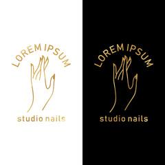 hand nails logo