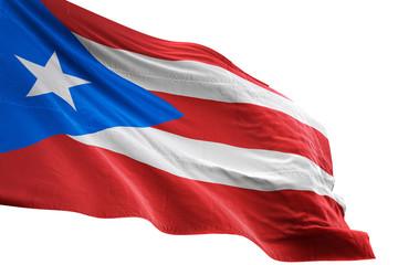 Puerto Rico flag waving isolated white background 3D illustration