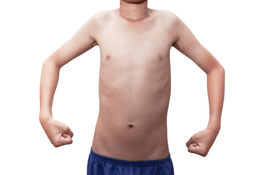 body boy  isolated on white background with clipping path
