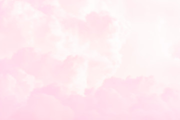 Abstract colour of clouds and sky on pink in sunshine for texture background.