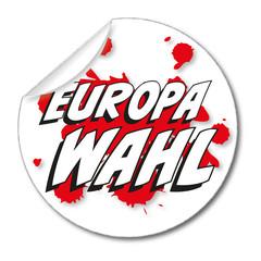 Aufkleber Europawahl