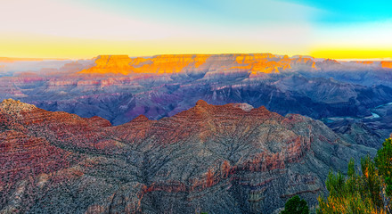 Fond de hotte en verre imprimé Rouge Amazing natural geological formation - Grand Canyon in Arizona, Southern Rim.