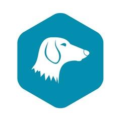 Dachshund dog icon in simple style isolated on white background. Animals symbol